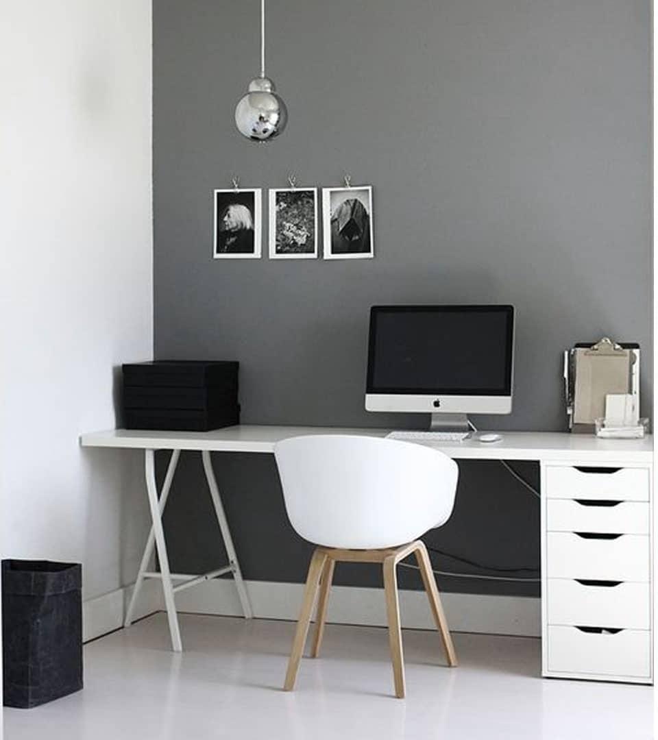 usa colores grises para decorar la oficina de papa