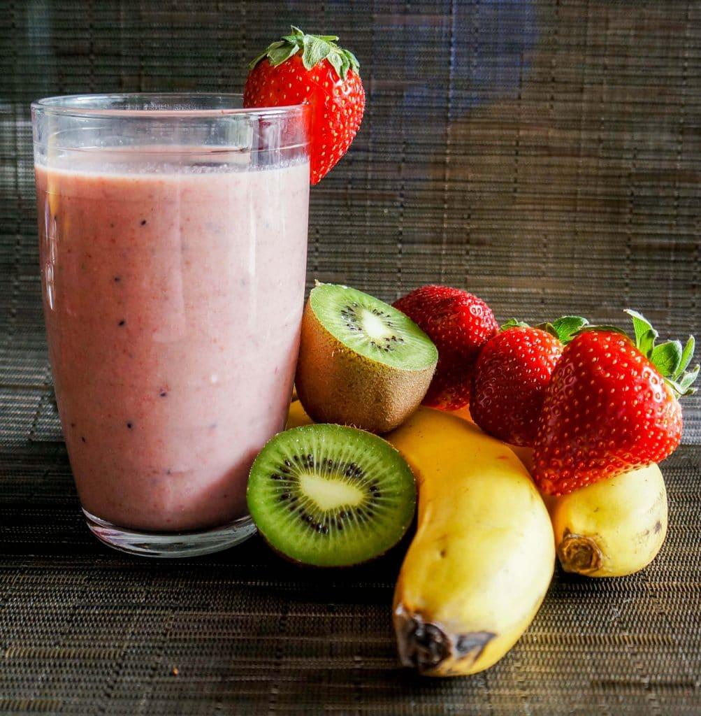smoothie fresa y kiwi