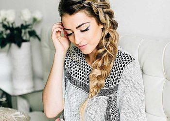 2 imagenes de peinados trenzas para fiesta y ser la sensación