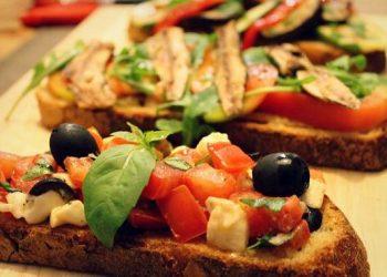 Comida vegetariana rapida|Bruschettas de Antipasto
