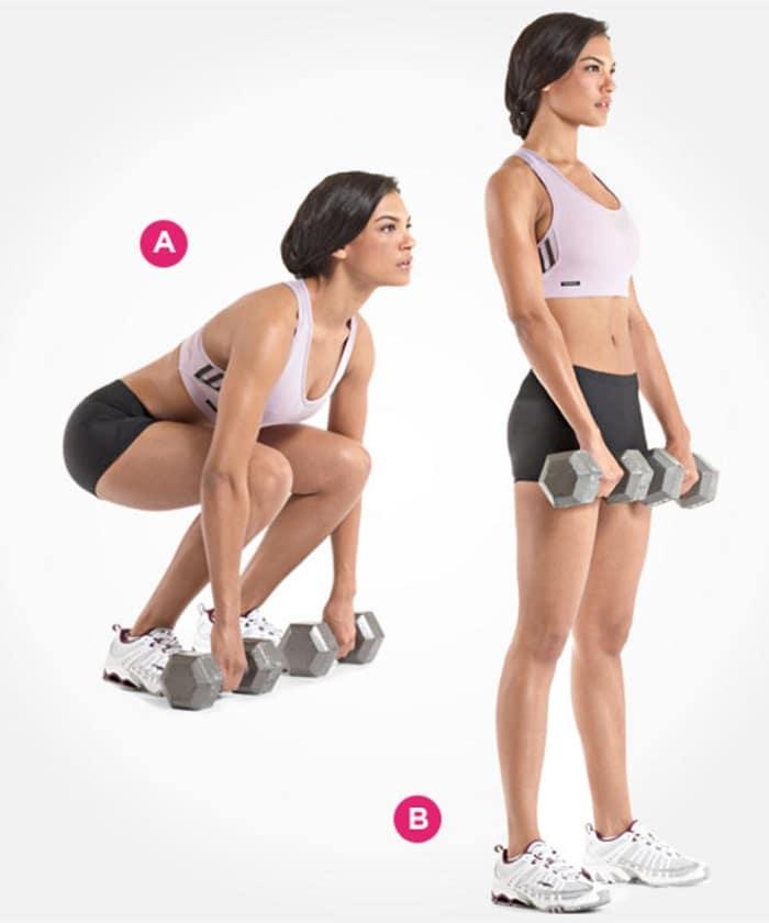 ejercicios para sacar glúteos con mancuernas
