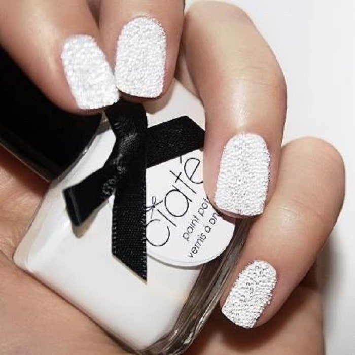 manicure para novias con caviar