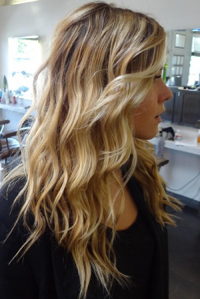 peinados pelo largo suelto con ondas