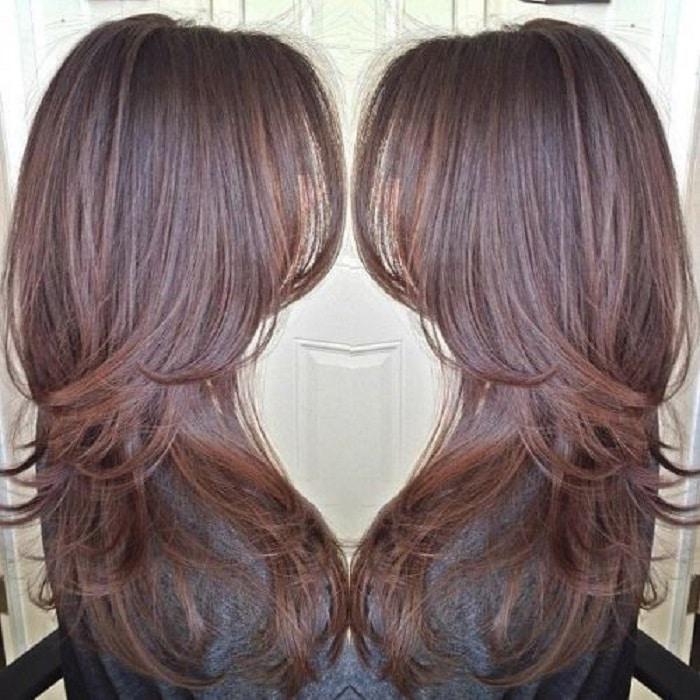 peinados pelo largo suelto color chocolate