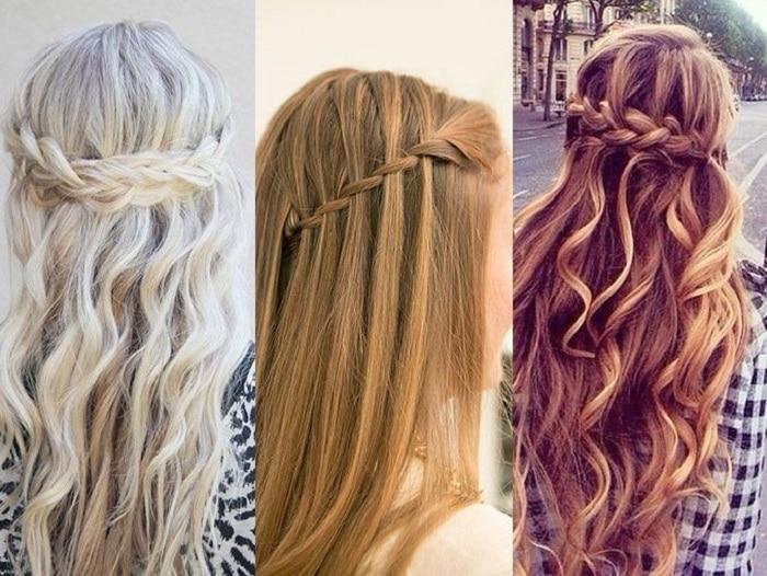 peinados sencillos con trenzas cascada