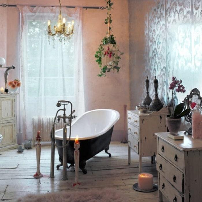 baños super pequeños bohemios