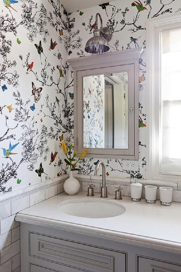decoración de casa pequeña con patrones