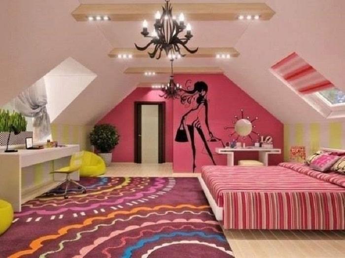 decoración de cuartos juveniles con vinil