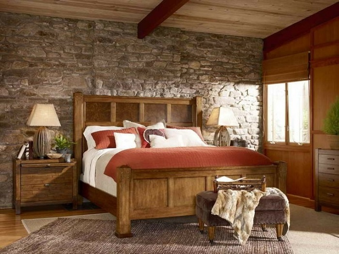 decoración para habitaciones pequeñas rusticas