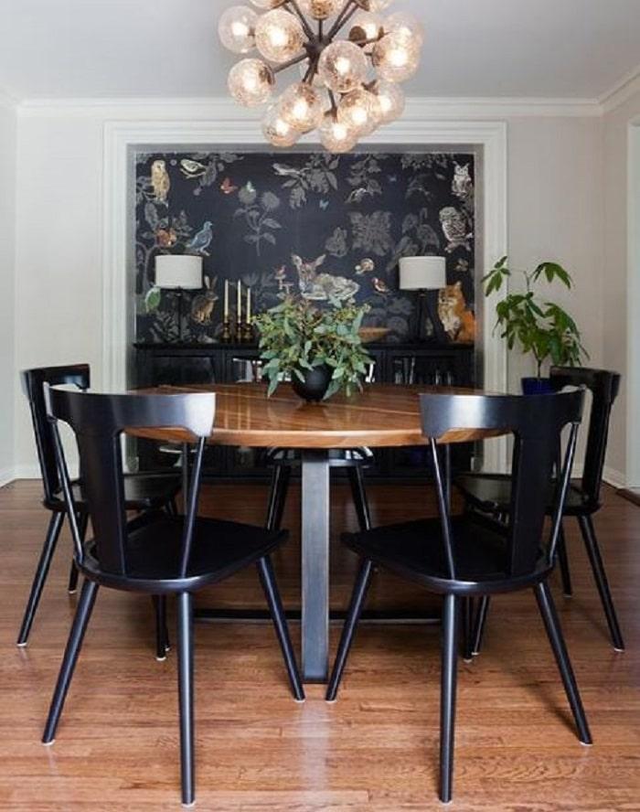 decoración de casa pequeña y comedor