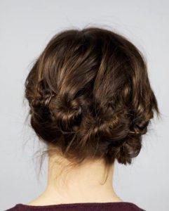 peinados recogidos de novia retro