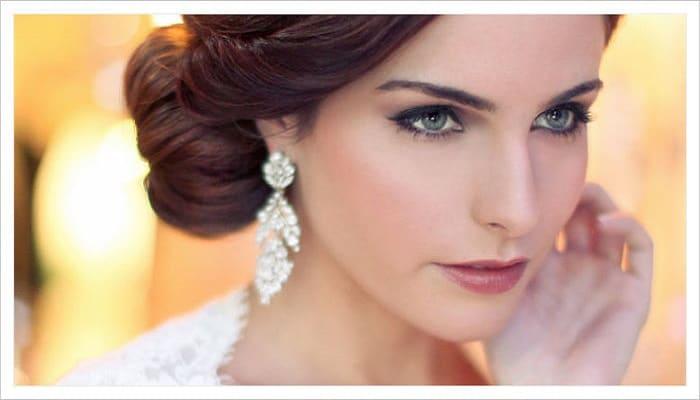 las pestañas y el maquillaje para novias de noche