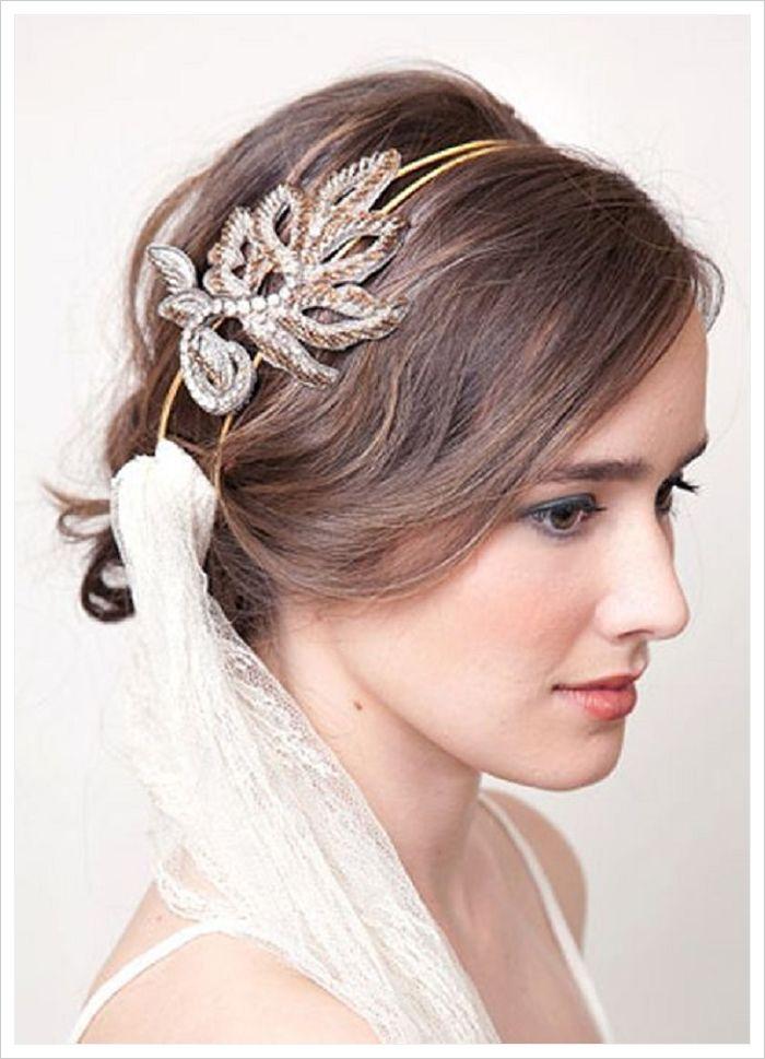 peinados para novias con velo y diadema