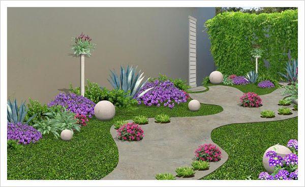Hermosas opciones de jardines peque os para casas - Diseno de jardines pequenos para casas ...