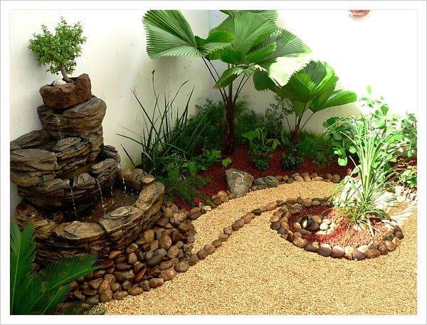 Hermosas opciones de jardines peque os para casas for Fuentes para jardines pequenos