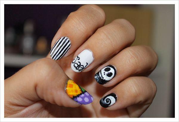 uñas de porcelana decoradas