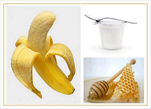 Platano, miel y yogurt
