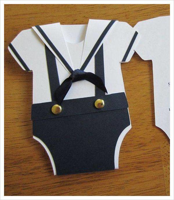 Tarjetas para baby shower de varón