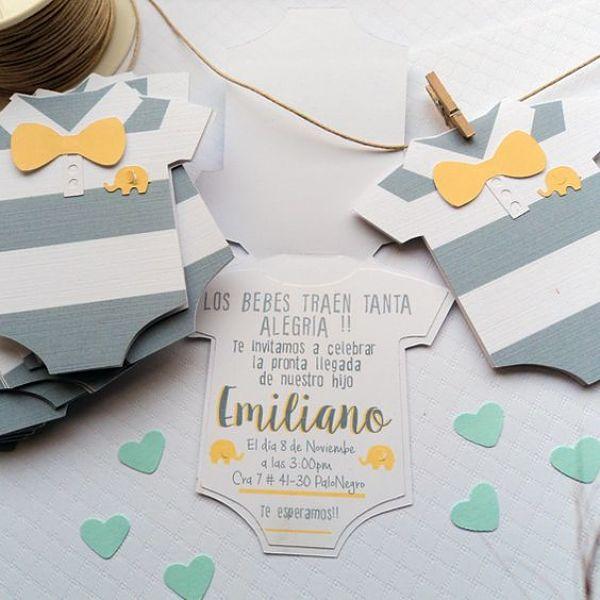 Aprende hacer hermosas tarjetas para baby shower de varón