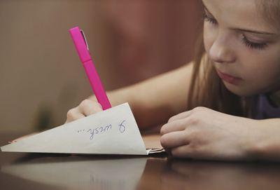 Juego para niños - Escribir una carta